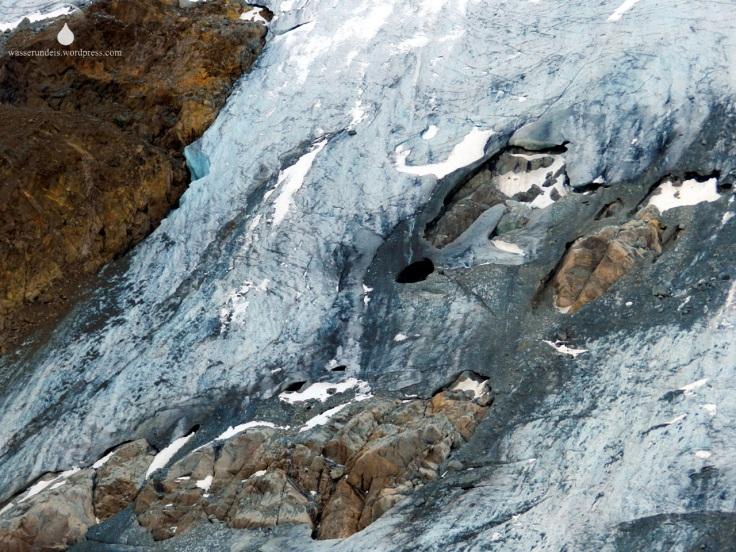 Gletschereis Felsen Felsriegel