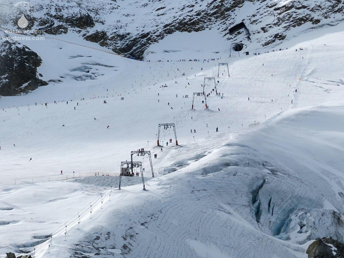 Licht und Schatten - Herbskilauf am Rettenbach-Gletscher