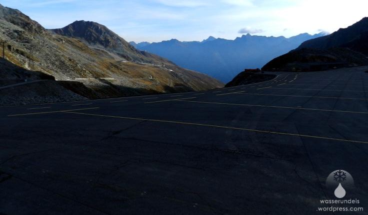 Parkplätze am Rettenbachgletscher