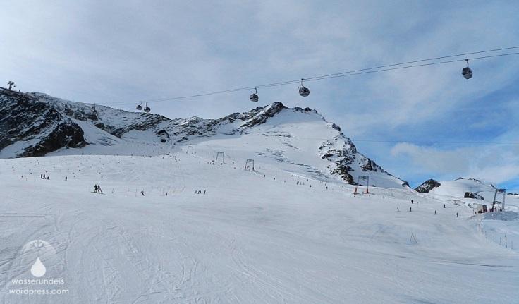 Gletscher Skifahren Sölden