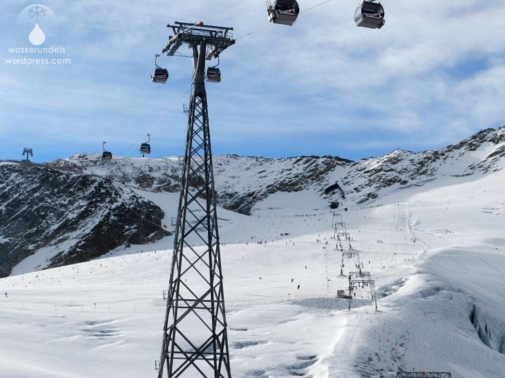 Gondelbahn Schlepplift Sölden Gletscher