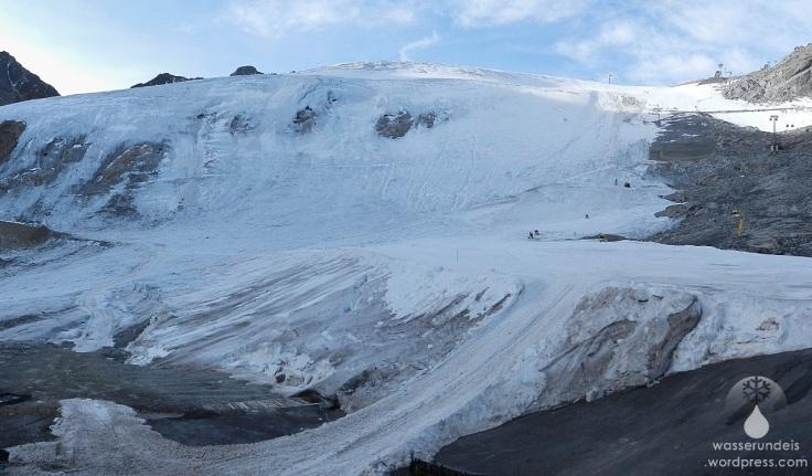 Gletscherzunge Rettenbachgletscher Sölden