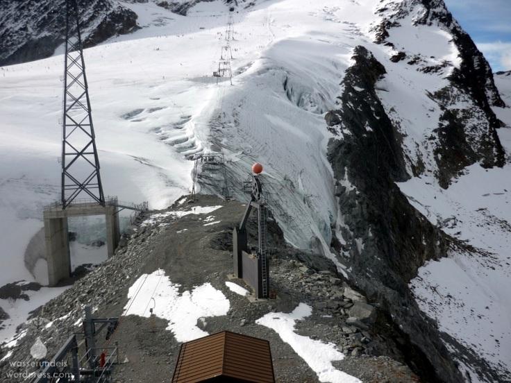 Problemstelle Loch Gletscher Sölden