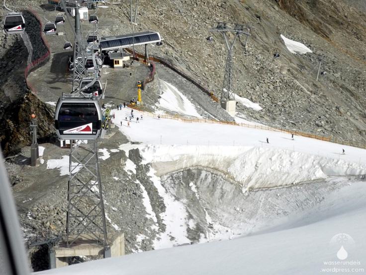 Gletscherloch Rettenbachferner Sölden Sommer