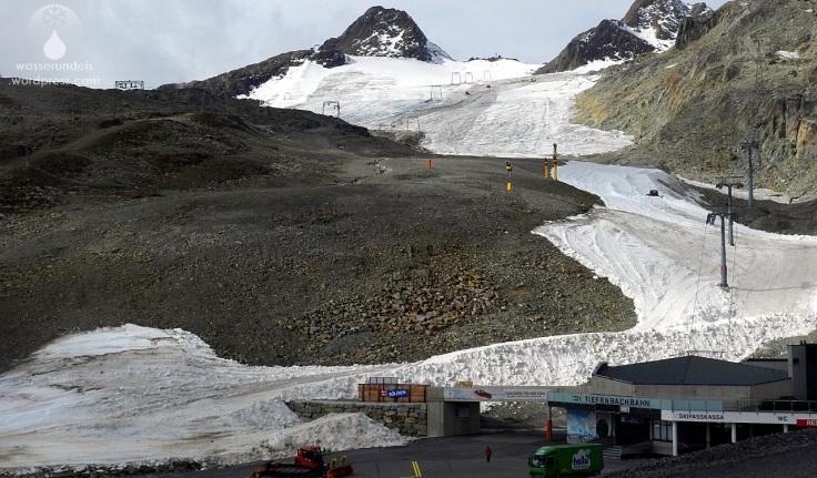 Tiefenbachferner Schneeverschiebung Tiefenbachbahn Sölden
