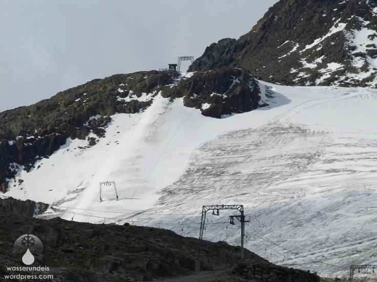 Tiefenbachgletscher Sölden Skilift Panorama