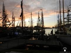 Sonnenuntergang am Neuen Hafen.