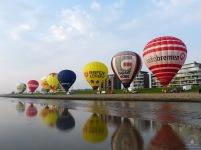 Start von Heißluftballons am Lohmanndeich.