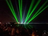 Lasershow auf der Geestemole.