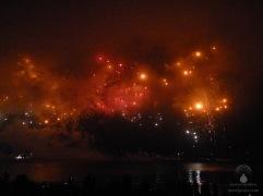Feuerwerk am Bremerhavener Lohmanndeich.
