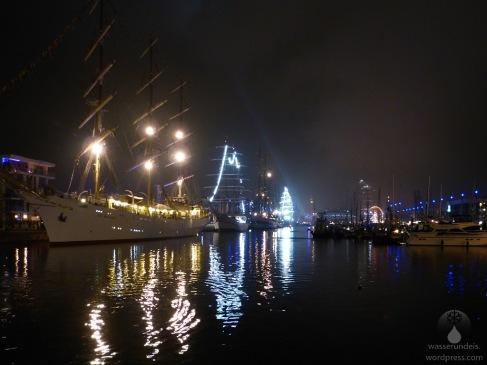 Windjammern in Neuen Hafen.