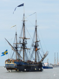 Die schwedische Göteborg - der nachbau eines alten Handelsschiffs.