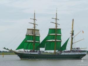 Die Alexander von Humbold II - das Beck's Schiff mit Heimathafen Bremerhaven.