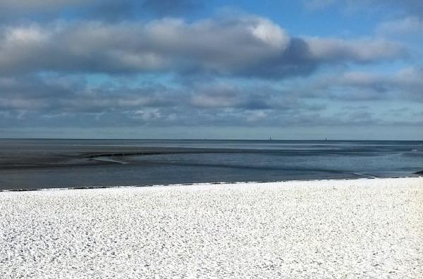Wattenmeer Schnee Winter