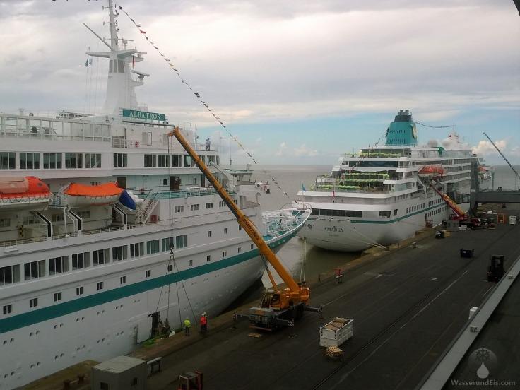 Kreuzfahrtterminal Kreuzfahrtschiffe Besucher Aussichtsplattform