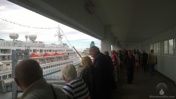 Besucherterasse Kreuzfahrtschiffe Bremerhaven