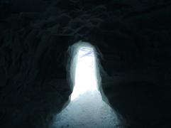 Der Ausgang des Dachstein-Eispalastes.