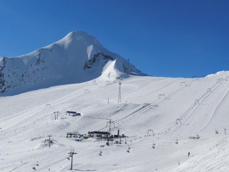 Gletscherskigebiet Kitzsteinhorn in Kaprun.