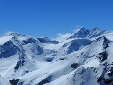 Großglockner und Karlinger Gletscher von der Aussichtsplattform.