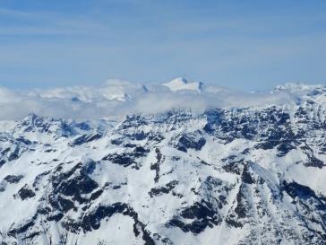 Großvenediger und westliche Hohe Tauern von der Aussichtsplattform.