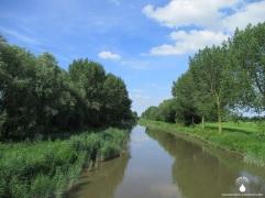Der rechte Nebenarm der Weser ist im Süden nicht sehr breit.