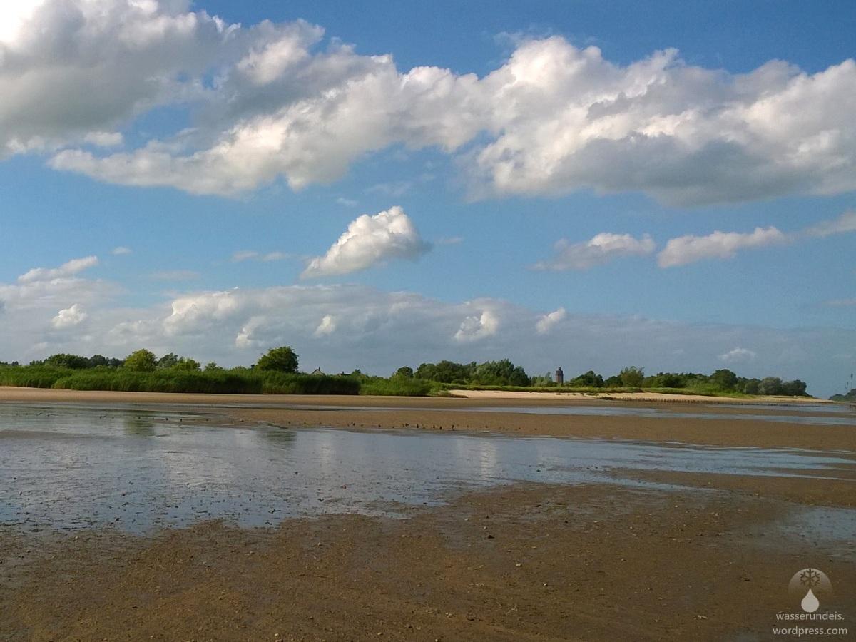 Sonne tanken an der Weser