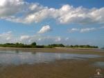 Sandstrand an der Weser in Dedesdorf.