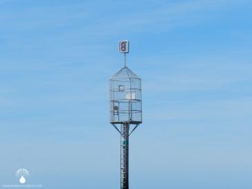 Rettungsturm im Watt, auf dem Wattenweg zwischen Cuxhaven und der Insel Neuwerk.