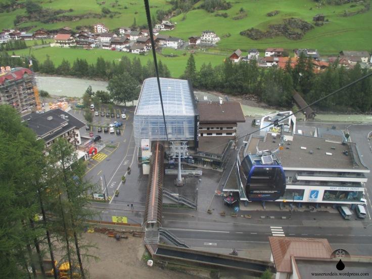 Talstation der Gaislachkogelbahn im Ötztal.
