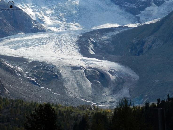 Die Gletscherzunge der Morteratschgletschers.