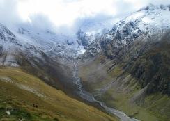 Das Rotmoostal mit dem Gletschervorfeld.