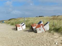 Die Strandkörbe werden abgeräumt und....
