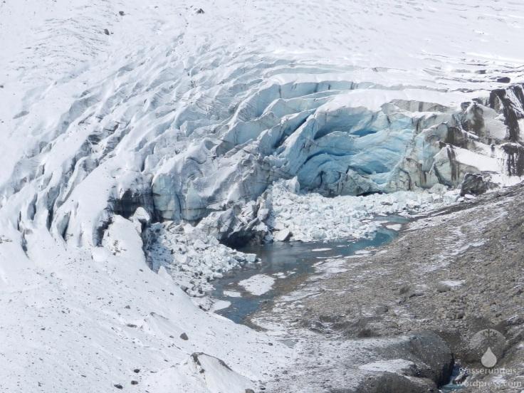 Gletscherspalten Pasterze Gletscherzunge