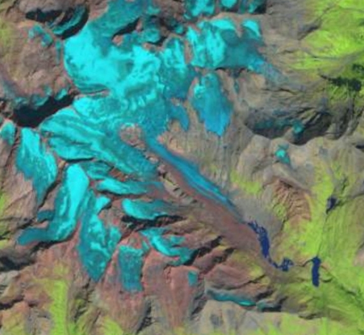Satellitenbild Paterze Gletscher 2017