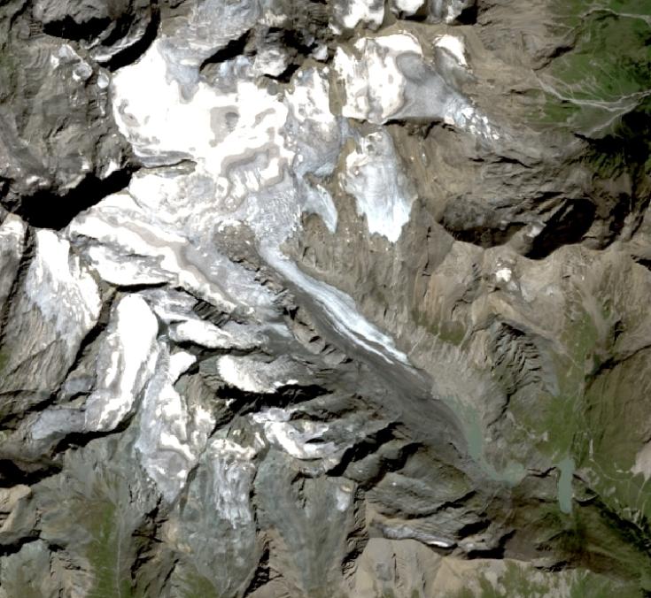 Pasterze Landat Satellitenbild Gletscher