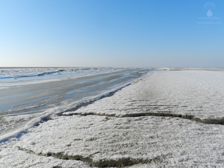 Priel Eis Nordsee Winter