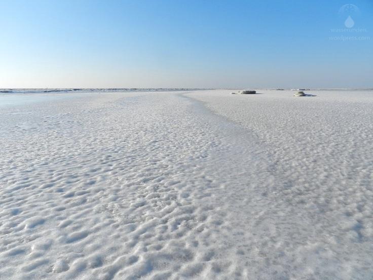 Eiswinter Nordsee gefroren