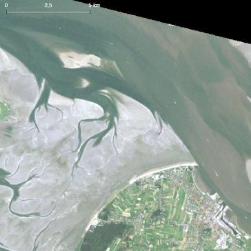 Wattenmeer vor Cuxhaven am 15. Juli 1990