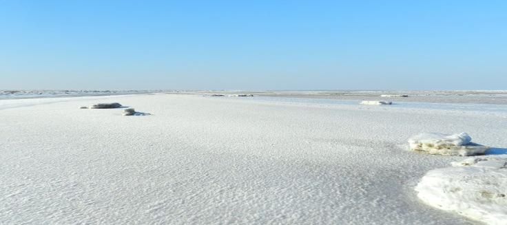Eisgang auf der Nordsee im Land Wursten,.