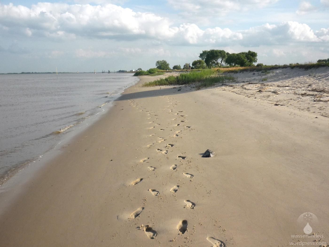 Weserstrand in Kleinensiel.