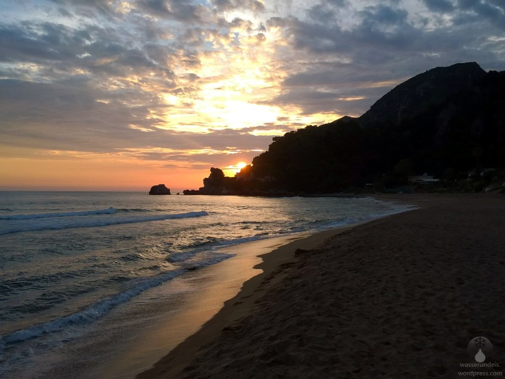#Korfu Glyfada Golden Beach Sonnenuntergang 2018