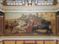 """Fresko """"Triumpf des Achilles"""" von Franz Matsch im Achilleon auf Korfu."""