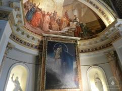 Wandgemälde in der Kuppel des Achilleon.