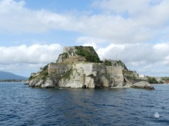 Das Alte Fort von Kerkyra auf Korfu.