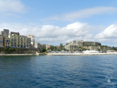Alter Hafen und Neue Festung von Kerkyra.