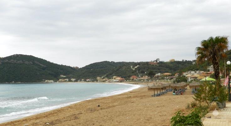 Das Ionische Meer am in der Bucht von Agious Georgios Armenadon.