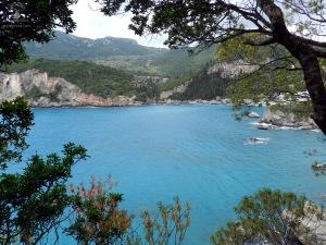 Die Bucht von Paleokritsa auf Korfu in Griechenland.