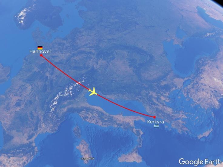 #Flug Hannover - Korfu