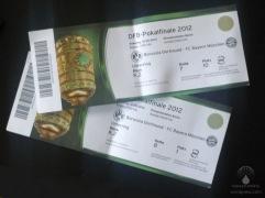 Tickets für das DFB-Pokalfinale 2012.