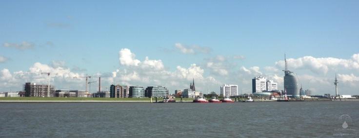 Blick auf die Bremerhavener Havenwelten.